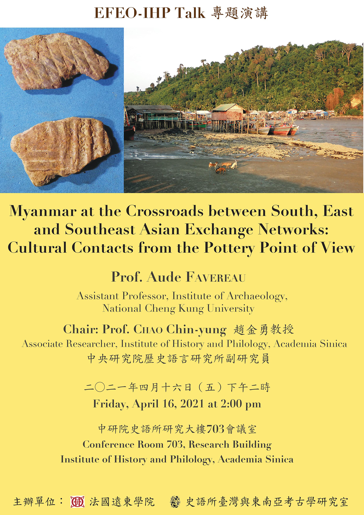 Myanmar at the Crossroads between South, East and Southeast Asian Exchange Networks: Cultural Contacts from the Pottery Point of View